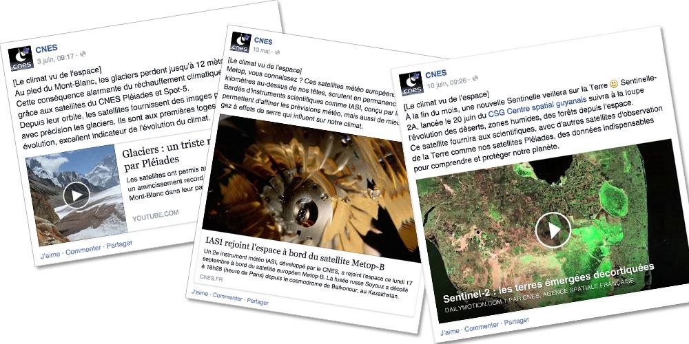 Posts Facebook sur le climat