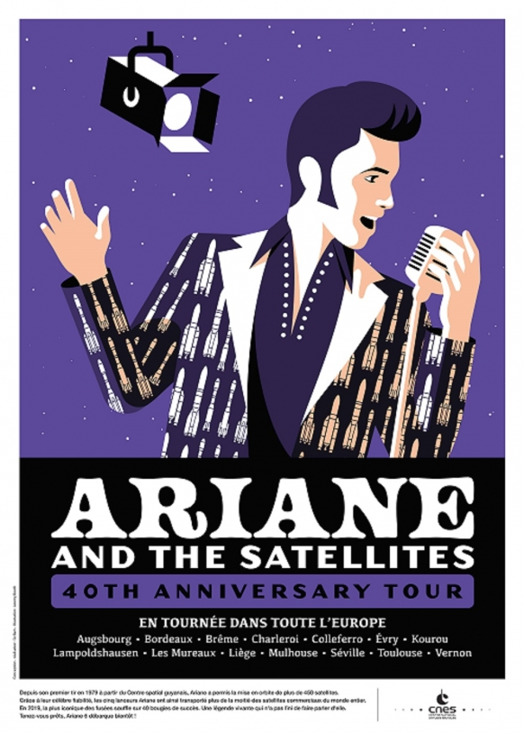 Ariane and the satellites - 40th anniversary tour