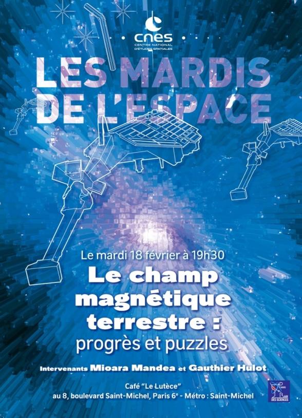 Affiche Mardi de l'Espace - Champ magnétique fév. 2020