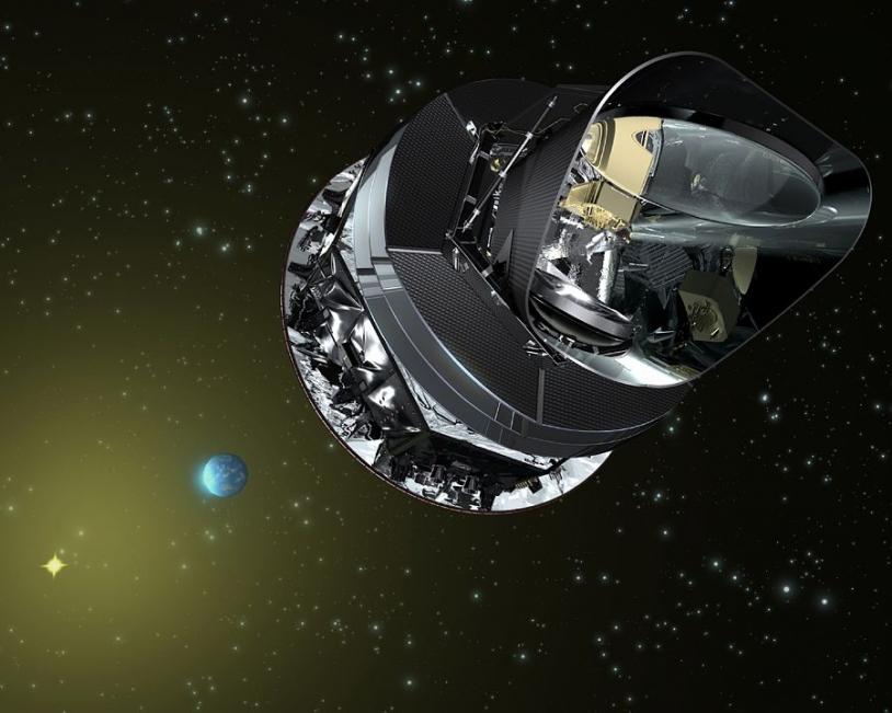 Le satellite Planck. Crédits : ESA.