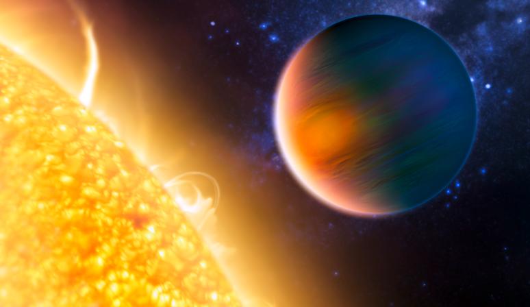 CoRoT débusque régulièrement de nouvelles planètes en dehors du système solaire. Crédits : ESA.