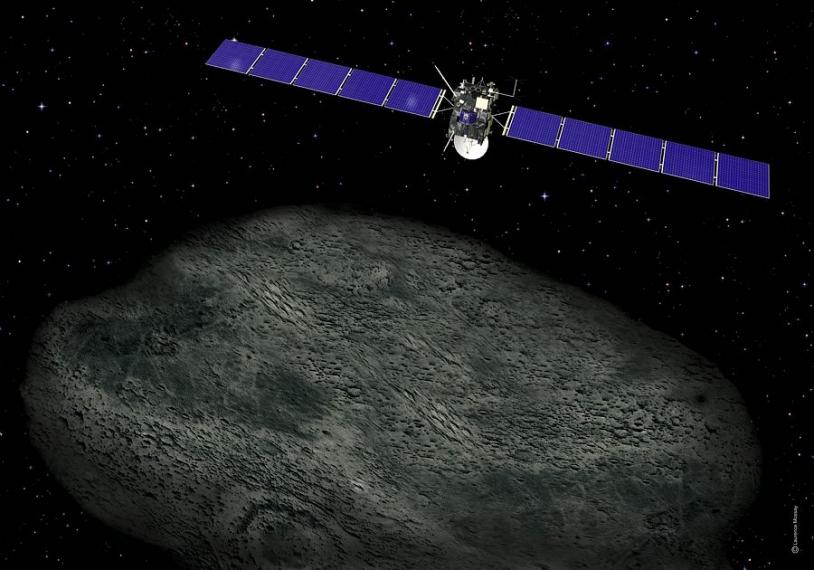La sonde européenne Rosetta. Crédits : CNES/Ill. L. Mossay.