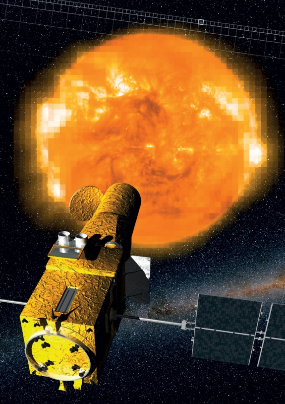 Crédits : Instituto de Astrofisica de Canarias / ESA/ SOHO.