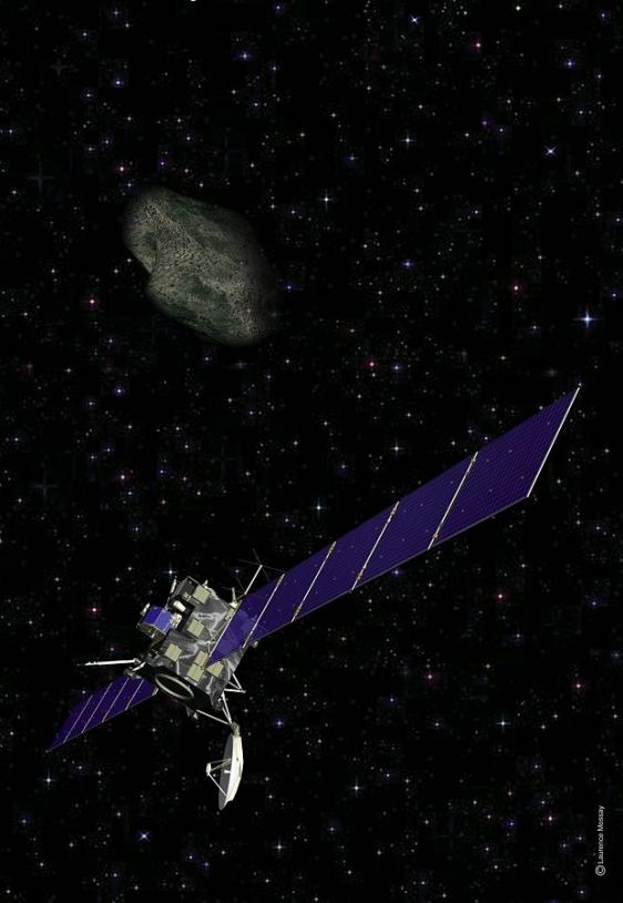 Le 10 juillet, tous les instruments de Rosetta devront être braqués sur l'astéroïde. Crédits : CNES/L. Mossay.