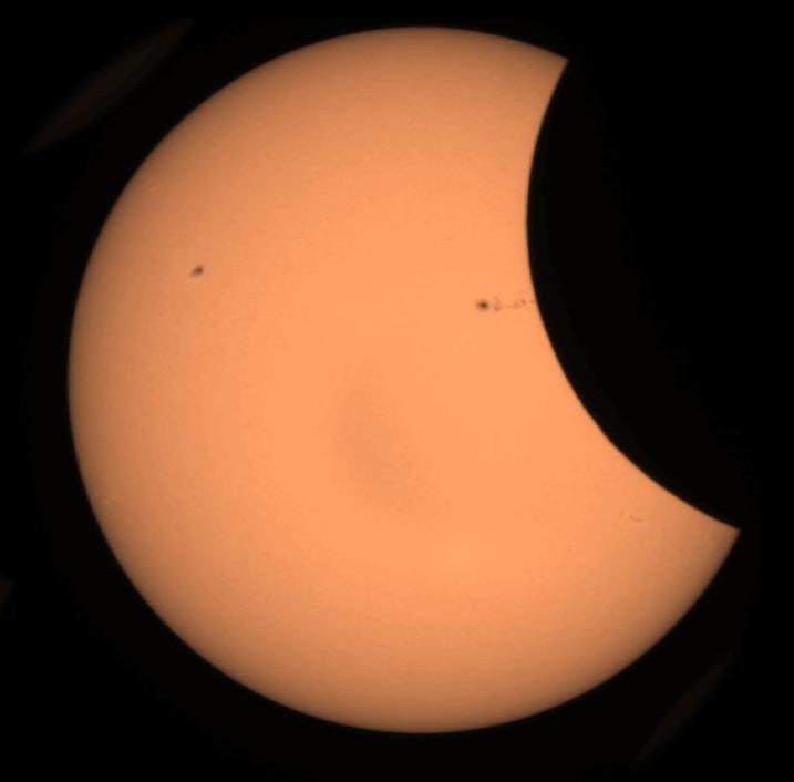 Eclipse partielle de Soleil observée par Picard le 20 mai 2012
